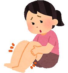 足の悩みイラスト